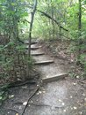 Stairway path stairs that lead to nature trail Royalty Free Stock Images