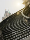 Stairway of the sanssouci palace in winter potsdam germany Royalty Free Stock Photo