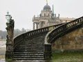 Stairway of the sanssouci palace in winter potsdam germany Stock Image