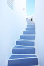 Stairway at santorini,greece Royalty Free Stock Photo