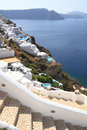Stairway of santorini island in greece Royalty Free Stock Image