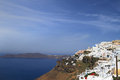 Stairway of santorini island view in greece Royalty Free Stock Photography