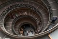 Stairway spiral inside an old monument in rome Stock Images