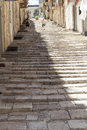 Stairway street malta a typical maltese in the old town of valletta Stock Photo