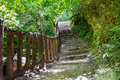 Stairway to forest erawan national park thailand Royalty Free Stock Photos