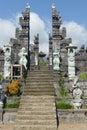 Stairway to the gods on mount agung in bali mother temple of besakih or pura besakih village of besakih slopes of eastern Stock Image