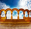 Stairway to heaven in bright sky Stock Photography