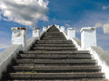 Stairway to heaven the endless staircase leading Royalty Free Stock Images