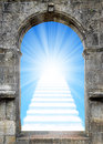 Stairway to heaven gate with Stock Photos