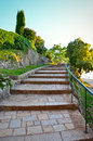 Stairway to heaven landscape with in croatia rovinj Stock Photos