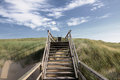 Stairway to heaven at sylt near westerland Royalty Free Stock Photo