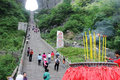Stairway to Heavenly Door (Tianmen) Royalty Free Stock Photography