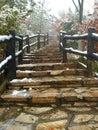 Stairway to the mountain peak Royalty Free Stock Photo