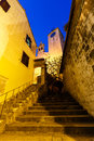 Stairway to Old Church in Omis Stock Photos