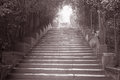 Stairway to piazza michelangelo florence italy black white sepia tone Stock Photography