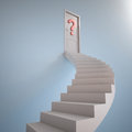 Stairway to the question mark d render Stock Photo