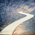 Stairway to the sky Royalty Free Stock Photos