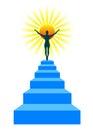 Stairway to sun Royalty Free Stock Photo