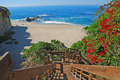 Stairway to table rock beach laguna beach ca image shows a public south california is a small secluded picturesque Stock Image