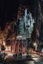 Stairway to the temple Inside Batu Caves near Kuala Lumpur, Malaysia. Royalty Free Stock Photo