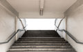 Stairways for entrance stadium with railing on white background Royalty Free Stock Photo