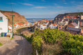 Staithes Beck winds through the Village Royalty Free Stock Photo