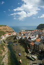 Staithes fishing port. Stock Photo