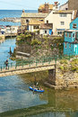 Staithes on lifeboat day Royalty Free Stock Photo