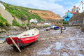 Staithes yorkshire england uk boats at europe Stock Photo