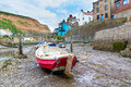 Staithes yorkshire england uk boats at europe Stock Images