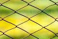 Staket metallic rusty net security wire Royaltyfri Fotografi