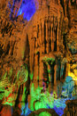Stalactite the close up of and stalagmite in ludi cave in guilin guangxi china Stock Photos