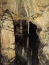 Stalactite and stalagmite cave, Slovakia Royalty Free Stock Photo