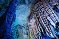 Stalactite and Stalagmite Formations Royalty Free Stock Photo