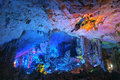 Stalactitum the close up of in qixin cave in guilin guangxi china Stock Images