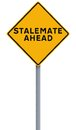 Stalemate ahead a road sign indicating Stock Photo