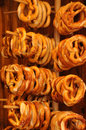 Stall a pretzels in a bakery in colmar france Stock Photos