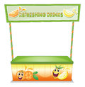 A stall for refreshing drinks illustration of on white background Stock Photography