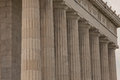 Stalwart Doric Columns of the Lincoln Memorial Royalty Free Stock Photo