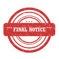 Stam final de notification Photo libre de droits