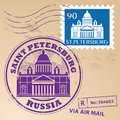 Stam set saint petersburg grunge rubber stamp with words russia inside Royalty Free Stock Images