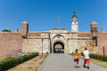 Stambol gate belgrade serbia aug tourists in front of of belgrade fortress on august in belgrade serbia it is popular unique Stock Image