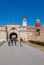 Stambol gate belgrade serbia aug tourists in front of of belgrade fortress on august in belgrade serbia it is popular unique Royalty Free Stock Image