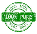 Stamp with 100% PURE