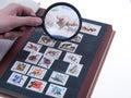 Stamp album Royalty Free Stock Photo