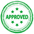 Stamp approved Stock Photo