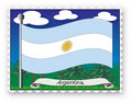 Stamp Argentina Stock Photography