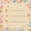 Stamp background Royalty Free Stock Photos