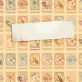 Stamp background with paper Royalty Free Stock Photography