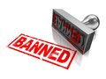 Stamp banned Royalty Free Stock Image